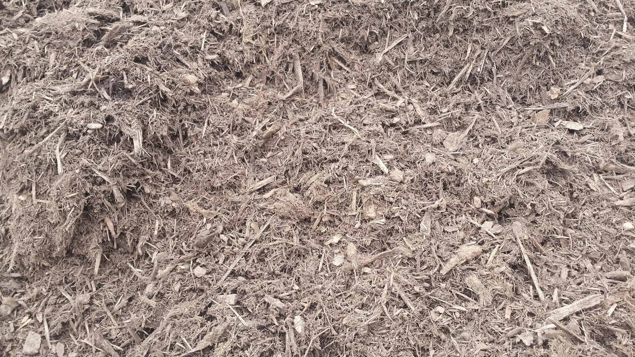 Saddle Brown double ground mulch (color enhanced)